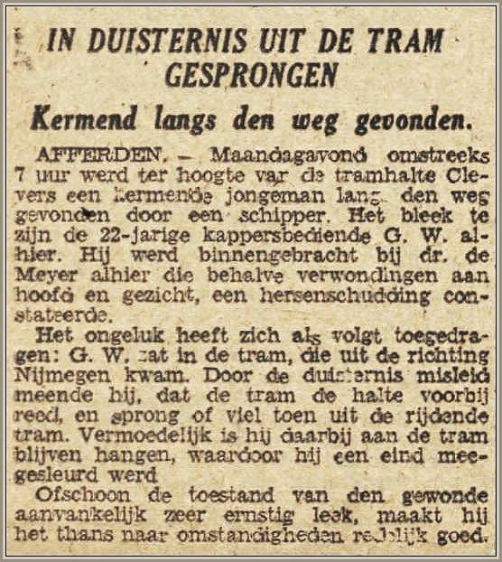 Tram niet zonder gevaar 1942