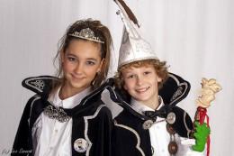 Jeugdprins Tijn en jeugdprinses Floor van de Sneuzels