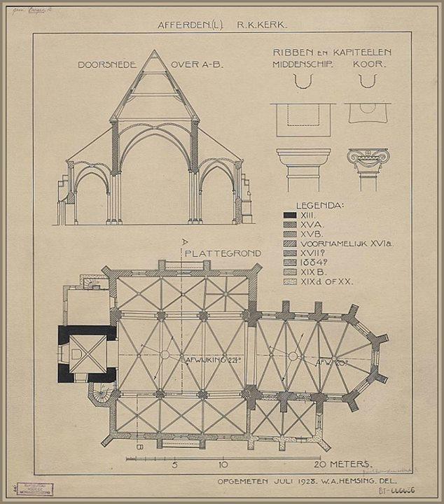 bouwtekening oude kerk