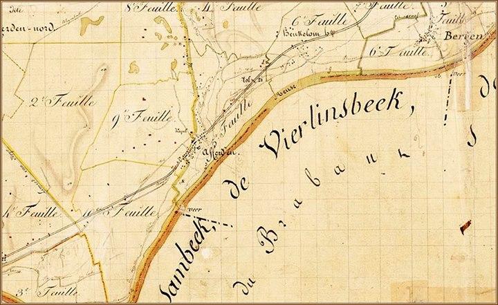 kadasterkaart bergen 1821