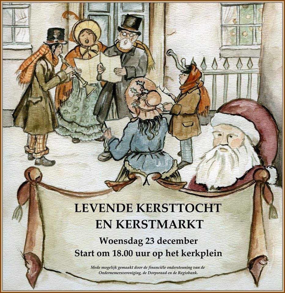Levende kersttocht en kerstmarkt op woensdag 23 december