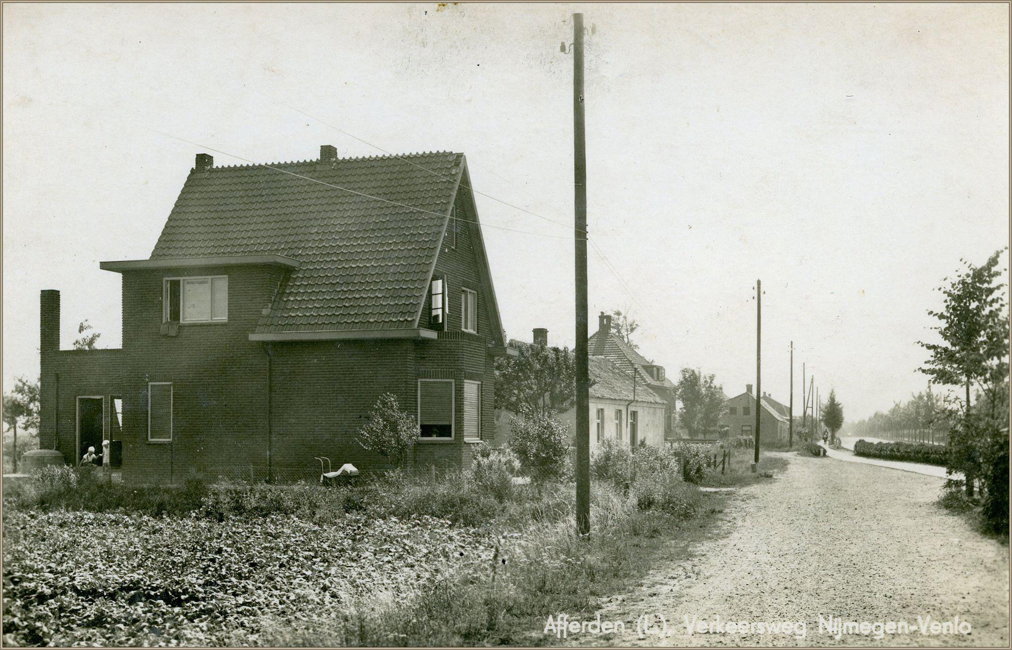 Een vooroorlogse foto van het Gening