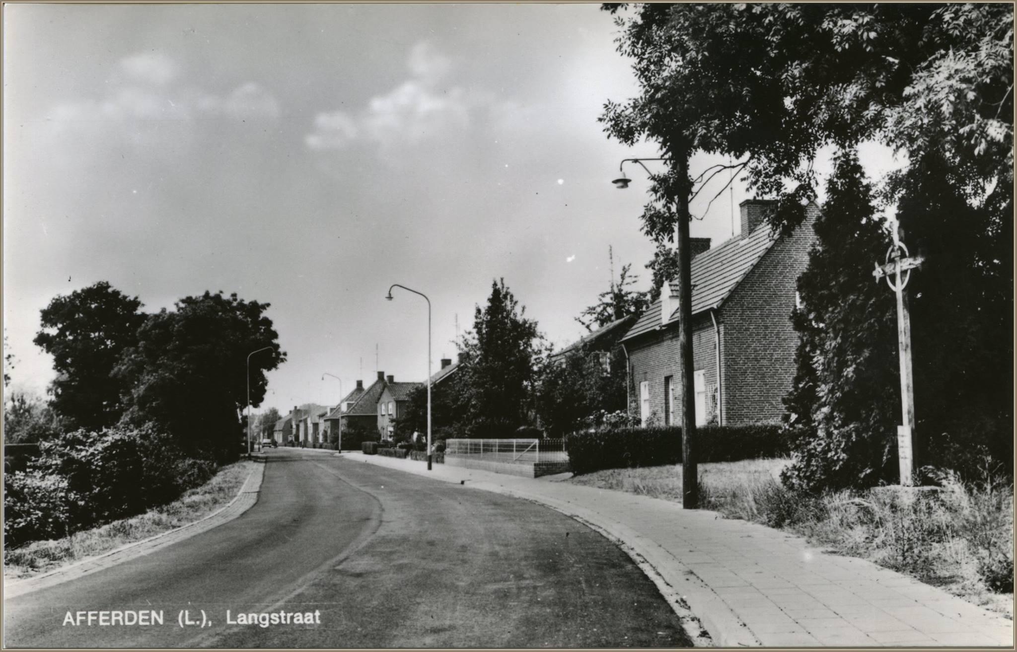 Ansichtkaart: Langstraat 1970