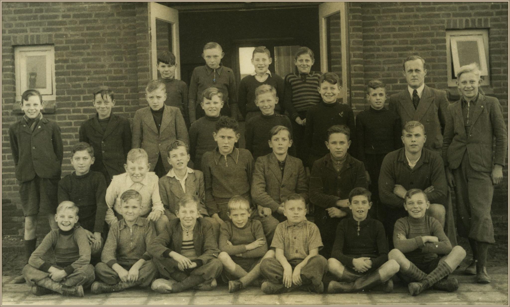 Klassefoto meester Goossens 1951