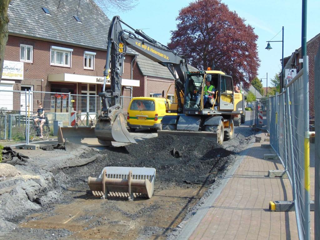 dorpsstraat werkzaamheden mei 2016