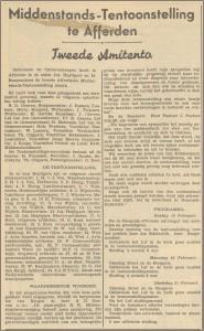 Dorpsarchief middenstands tentoonstelling 1935