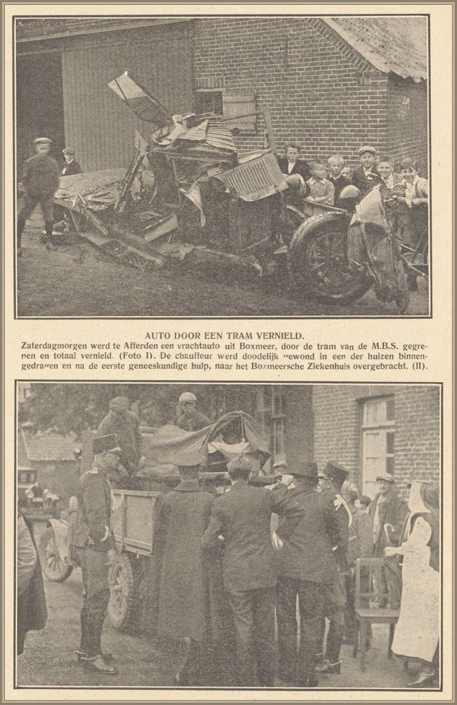 Dorpsarchief tram ongeluk 1930