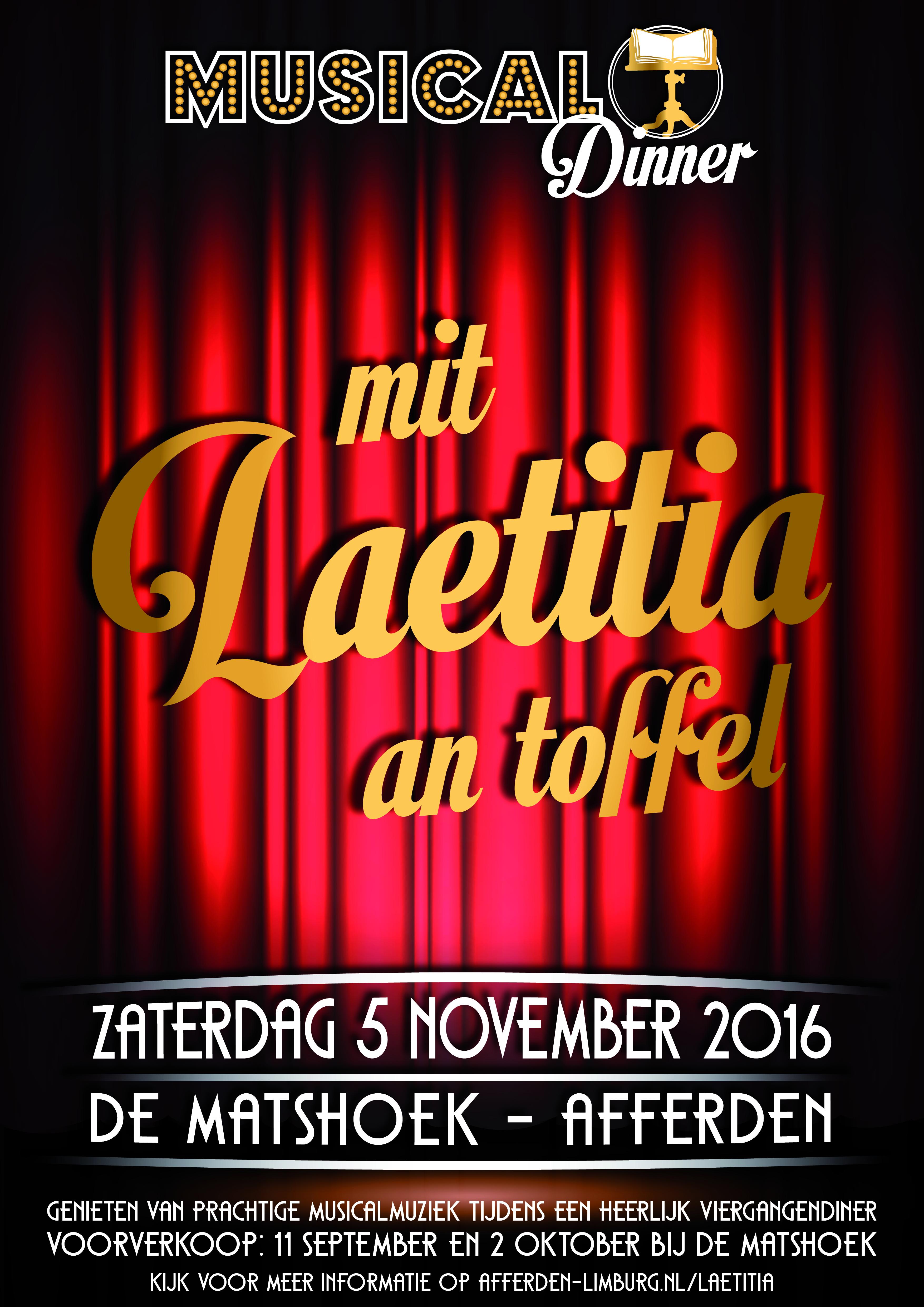 Laetitia: Dinnershow en Rabo Clubkas Campagne