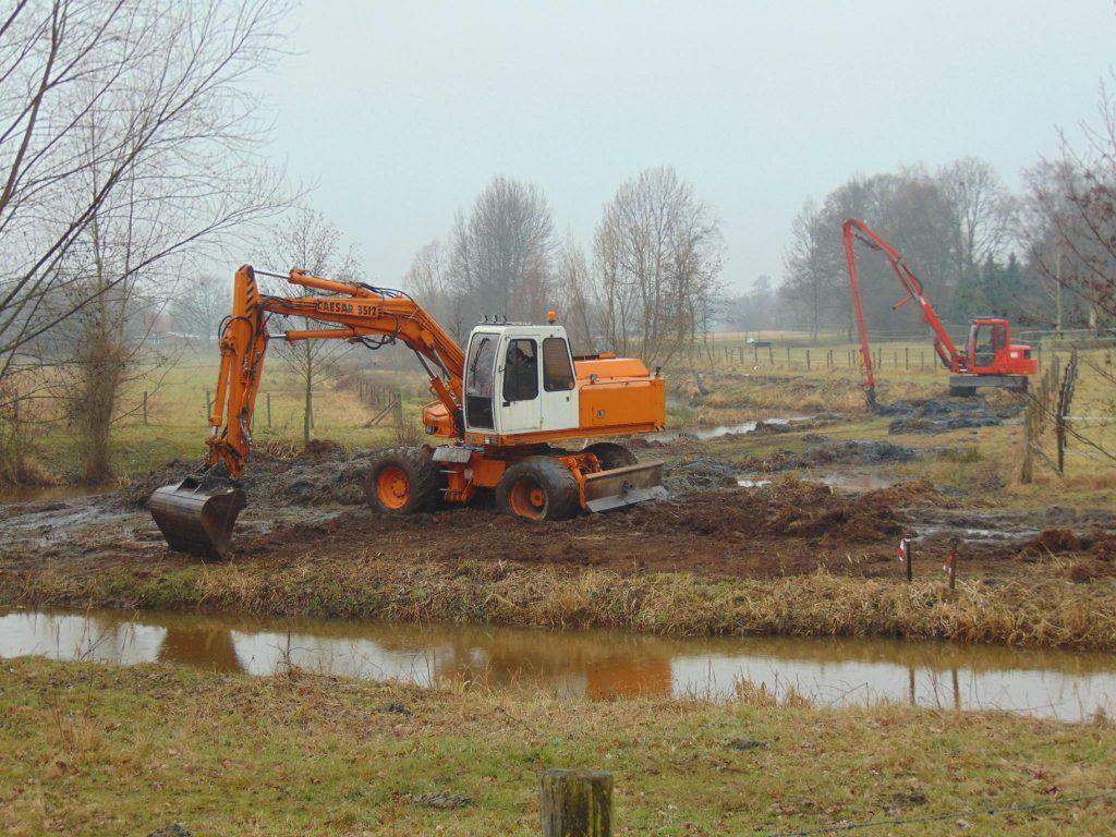 Werkzaamheden Eckeltse beek februari 2017