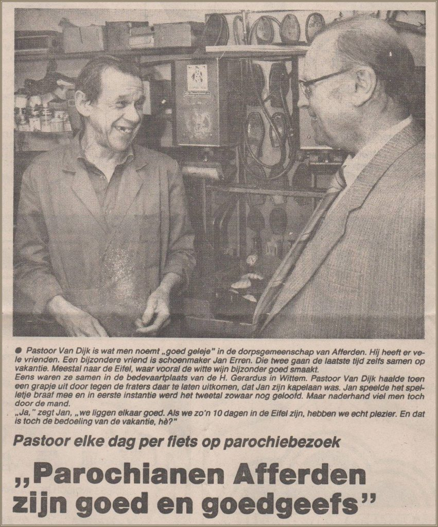 Dorpsarchief pastoor van Dijk en schoenmaker Jan Erren