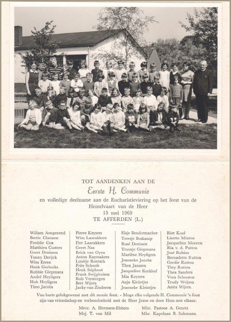 Dorpsarchief Communie 1969