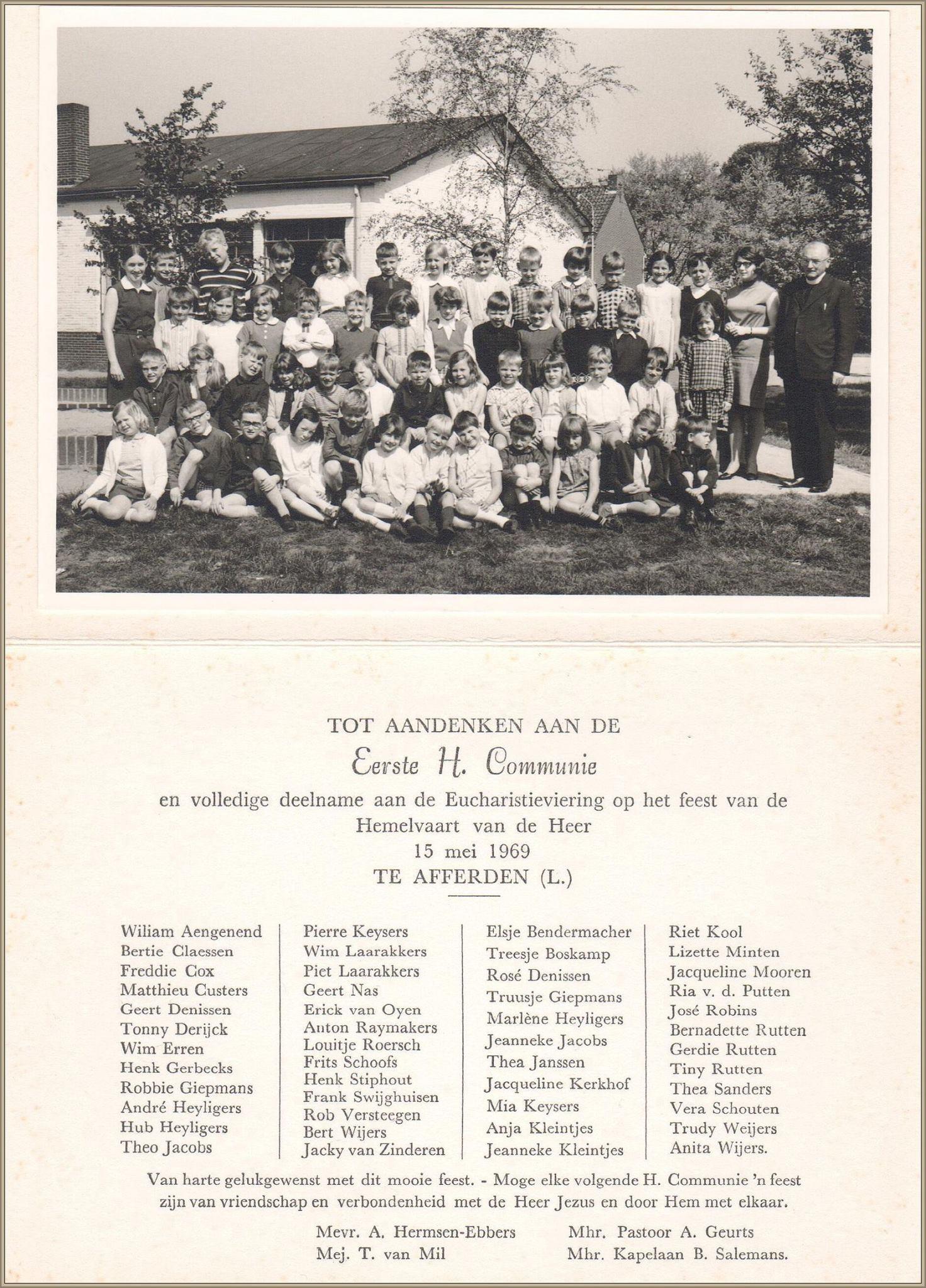 De Eerste Communie in 1969