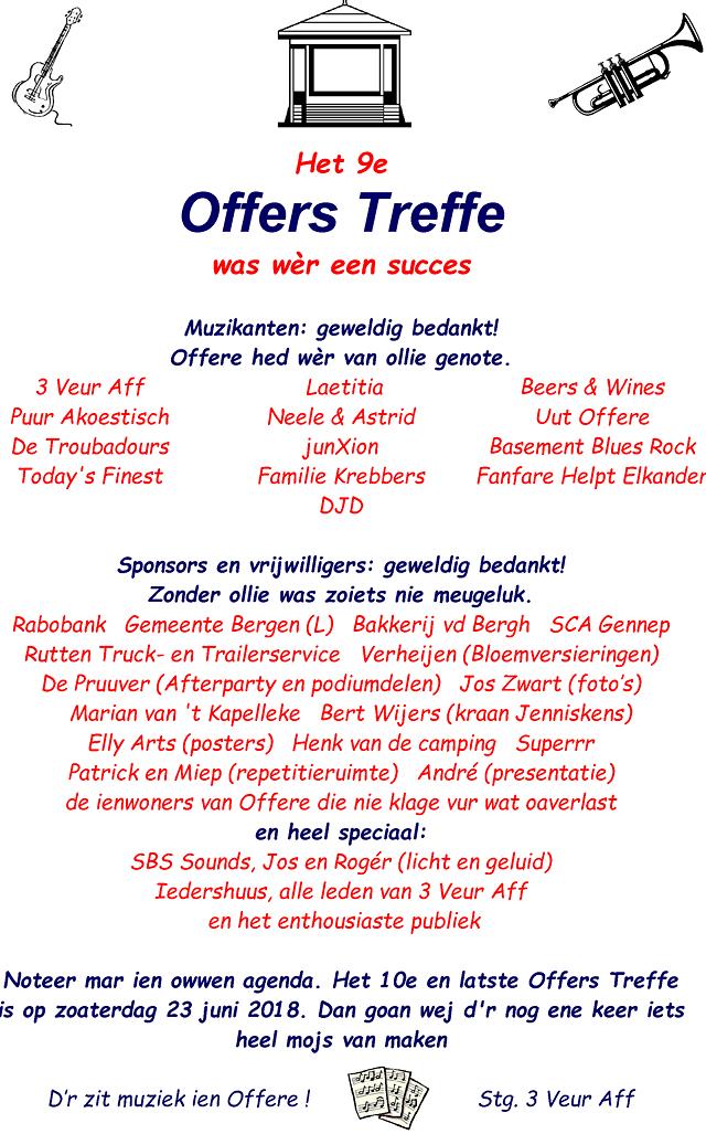 Bedankje organistaie Offers Treffe 2017