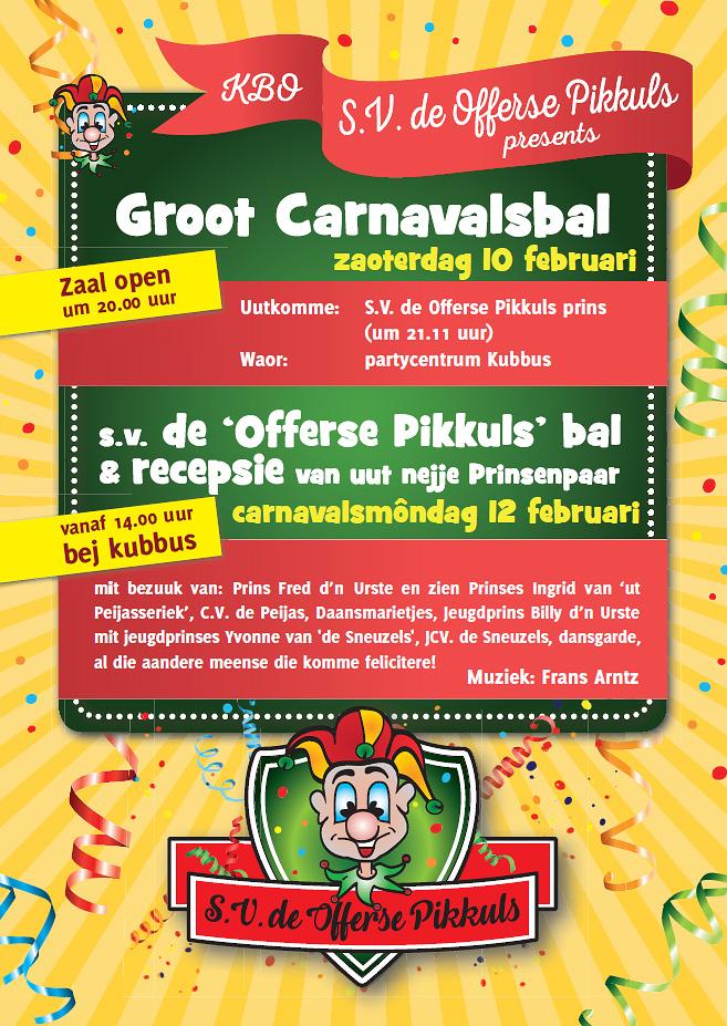 Carnavalsprogramma 2018 van de Pikkuls