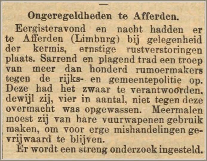 Ongeregeldheden tijdens kermis 1895