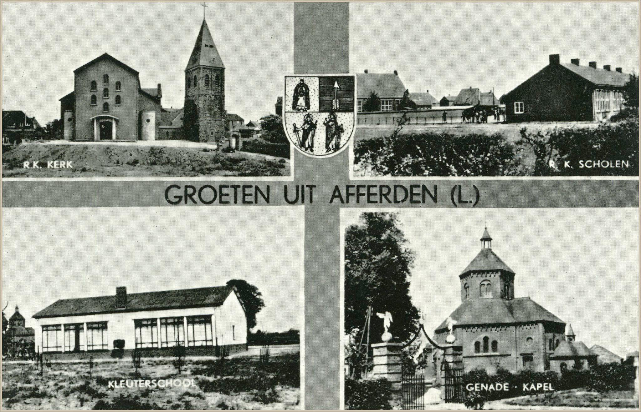 Vierluik Afferden rond 1960