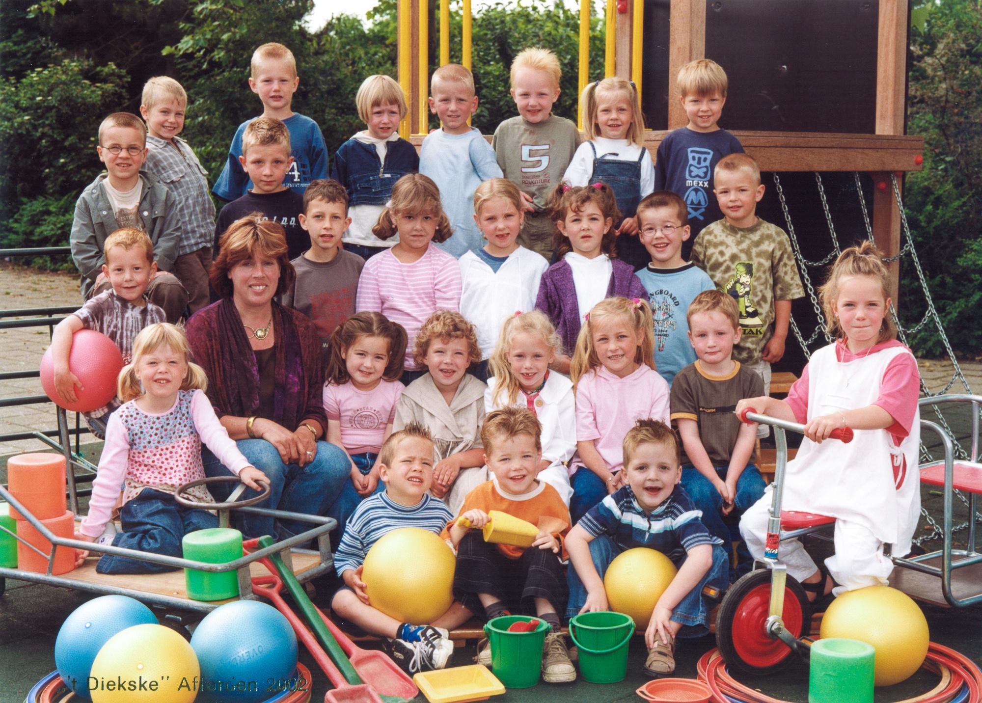 Klassefoto groep 1 Diekske 2002
