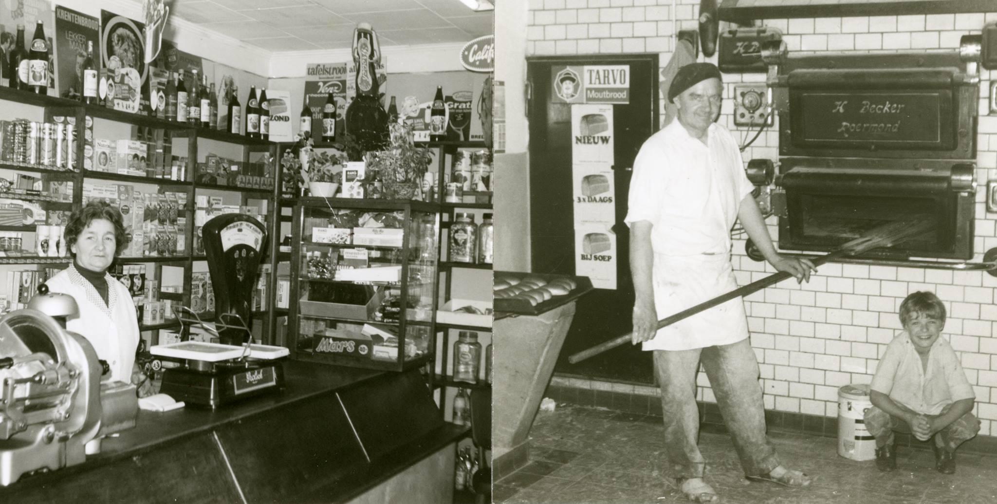 De Vivo-winkel / bakkerij van Piet Megens 1970