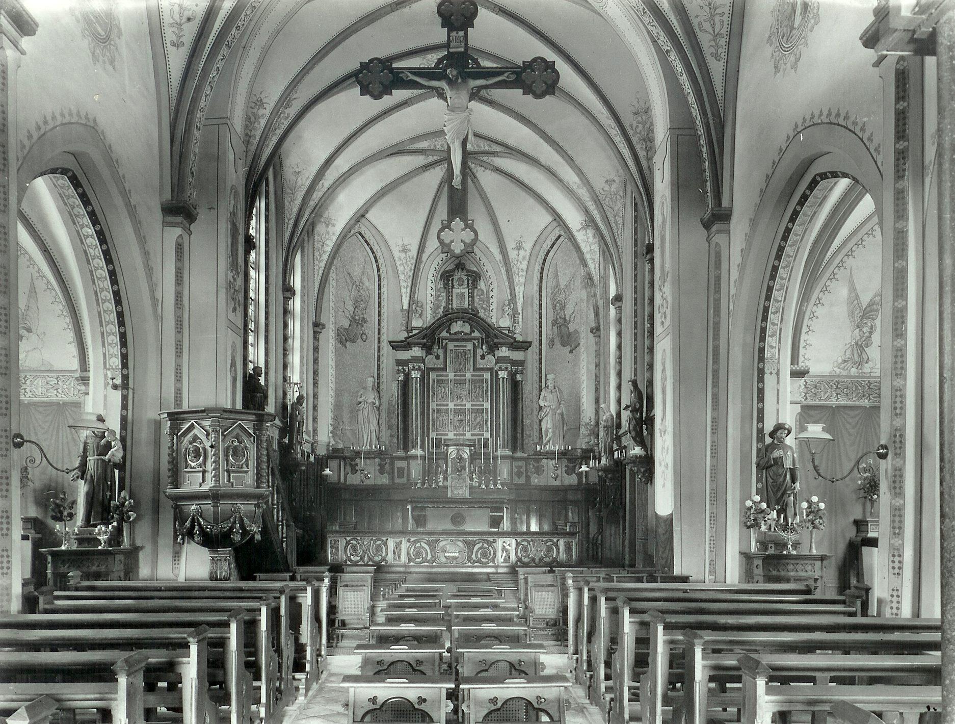 Interieur oude kerk