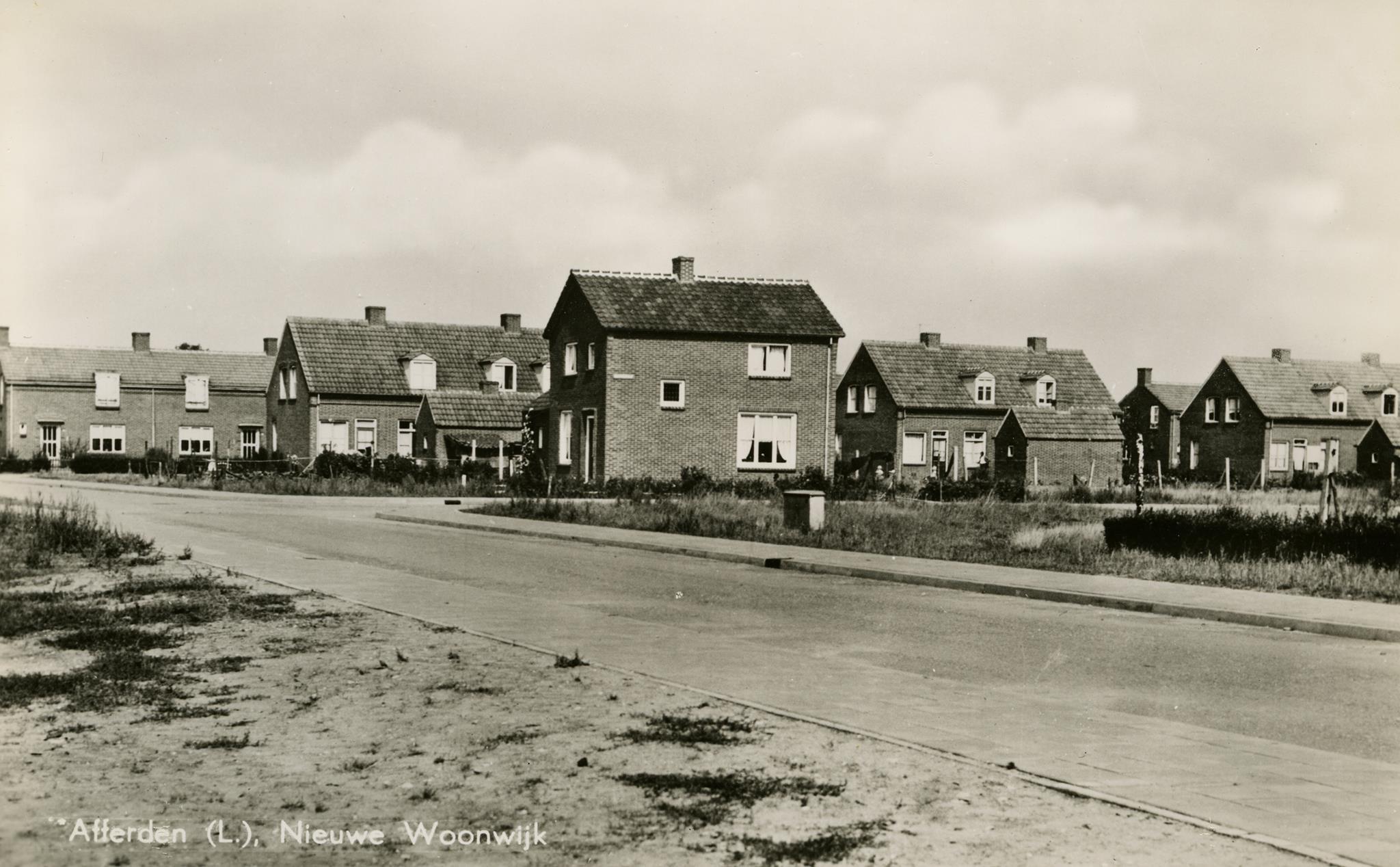 Nieuwe woonwijk 1956
